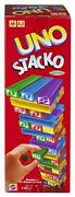 Mattel Games Uno Stackogame For Kids And Family With 45 Colored Stacking Blocks,