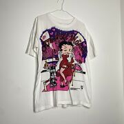 Vintage 1994 Betty Boop All Over Print Cartoon Shirt Large King Freeze