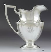 Antique 1915 Nice Gorham Sterling Silver Plymouth Water Pitcher 54 Oz Large Size