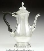 1930s-1950s American Sterling Silver Antique Georgian Form Coffeepot Teapot