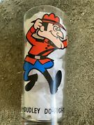 Vintage 1975 Looney Tunes Pepsi Glass Rcmp Dudley Do Right Large Version 6 1/4'