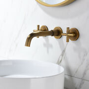 Antique Brass Bathroom Vanity Sink Washbasin Faucet 3-hole Mixed Valves Tap