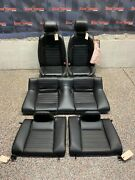 2013 Ford Mustang Gt Oem Coupe Black Leather Front Rear Seats -one Blown Bag-