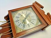 Vintage Linden 31 Day Wall Clock In A Wood Case, Needs The Key To Wind