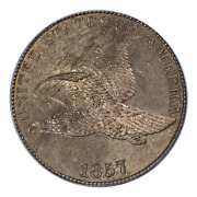 1857 Flying Eagle Cent Pcgs Ms63
