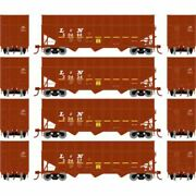 Athearn 76572 - 40' Wood Chip Hopper W/load - 4 Pack Louisville And Nashville ...