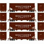 Athearn 76578 - 40' Wood Chip Hopper W/load - 4 Pack Southern Sou - Ho Scale