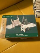 Dept 56 North Pole Woods Accessory - Birch Bench And Table