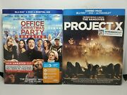 Office Christmas Party + Project X 2013 - Xtended Cut Blu-ray+dvd+slip Cover