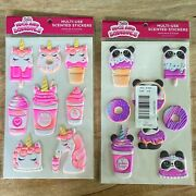Justice Squishy Puffy Unicorn And Panda Scented Large Stickers