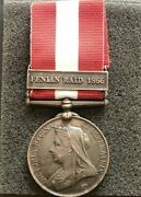 Superb Rare 1866 Fenian Raid War Medal Mint Condition Uncleaned As Struck