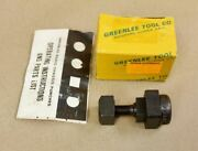 Greenlee 731 Radio Chassis Knock Out Punch 5/8 Square 501-3170.2 Fabulous W/box