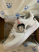 Nike Olivia Kim Air Force 1 Betty Boop Friends And Family Ct2276-100 Womenandrsquos 8 Nib