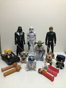 Star Wars Toys-lunch Box. Funko Toys. Pez Dispansers. Batmobil. All 16 Pieces.