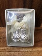 1999 Russ Baby Precious Keepsakes Silver Plated Booties - Babies First Christmas