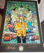2011 New Orleans French Quarter Fest Poster Numbered And Signed By Pete Fountain