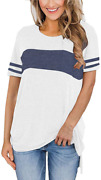 Famulily Tshirts Womens Summer Clothes For Women Uk White Xl