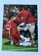 Fantactic Hand Signed With Coa Wayne Rooney Manchester United Photograph