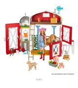 Barbie Sweet Orchard Farm Playset With Barn, 11 Animals, Working Features And 15 A