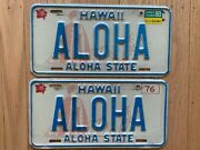 Vintage 1976 Hawaii License Plate Authentic Aloha Plates And Very Rare