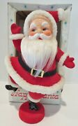 Vintage Christmas Table Decorations Happy Santa Center Piece 1960andrsquos-12 Tall-box