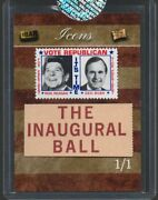 Ronald Reagan George Bush 2019 The Bar Pieces Of The Past Icons 1/1 One Of One