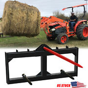 49 Hay Bale Spear Skid Steer Loader Tractors Quick Tach Attachment Moving Hitch