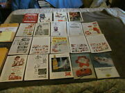 Fabulous Lot Of 19 Vintage 1915 - 1960's Magazine Ads - V8, Beer And More