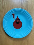 Fiesta® Turquoise Blue 9 Luncheon Plate With Cardinal