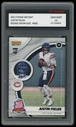 Justin Fields 2021 Panini Instant Showcase 1st Graded 10 Rated Rookie Card Bears