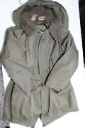 Vintage 1950and039s Us Army Korean War M-1951 Fishtail Parka Jacket Coat Liner And Hood