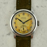 C.1943 Vintage Longines Sei Tacche Tropical Dial Ref 5175 Cal.12.68z In Steel