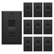[10 Pack] Bestten Dimmer Wall Light Switch Compatible With Dimmable Led Cfl I