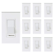 [10 Pack] Cloudy Bay 3-way/single Pole Dimmer Electrical Light Switch For 150w L