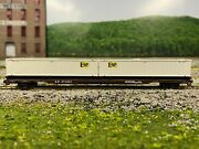 N - Con-cor Southern Pacific 89' Flatcar W/ Emp Sea Containers Sp 371881 N4502