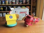 Snoopy / Peanuts Schmid Snoopy And The Red Baron Wooden Music Boxs Vintage