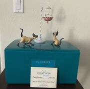 Wdcc We Are Siamese If You Please Si And Am From Lady And The Tramp With Box Coa