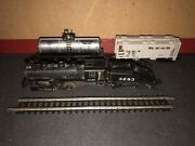 N Scale Bachmann Atsf 0-6-0 Steam Locomotive And Slope Tender 3283 W/cars And Track