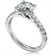 0.85 Ct Natural Diamond Wedding Promise Ring 14k Solid White Gold Size 5 6 7 8