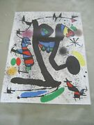 Vintage Joan Miro Lithograph From Book Signed