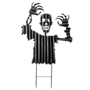 36 In. Flailing Zombie Garden Stake Scary For Outdoor Halloween Decoration
