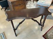 Baker Furniture Milling Road Collection Serpentine Console Table