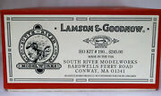 Ho Scale South River Model Works Kit 190 Lamson And Goodnow