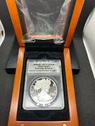 2017-w Anacs Certified Pr70 Dcam Silver Eagle 1 First Day Of Issue-12