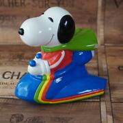 Vintage Item Snoopy Spaceship Bank Determined Production Piggy Bank From Japan
