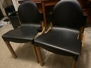 Vintage Thonet Flex Chairs Set Of 2 Black And Wood