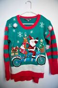 United States Sweaters Womens Size Xs Ugly Christmas 3d Reindeer Santa Sweater