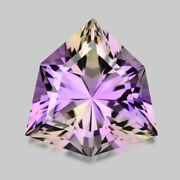 5.26cts Calibrated 13mm Custom Trilliant Blended Bi Color Ametrine Watch Video