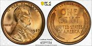 1927 Lincoln Cent Red Pcgs Secure Ms 67 Super Glassy Luster Great Registry Coin