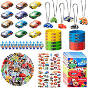 122pcs Race Cars Party Supplies Kit Lightning Mcqueen Party Favors All-in-one P